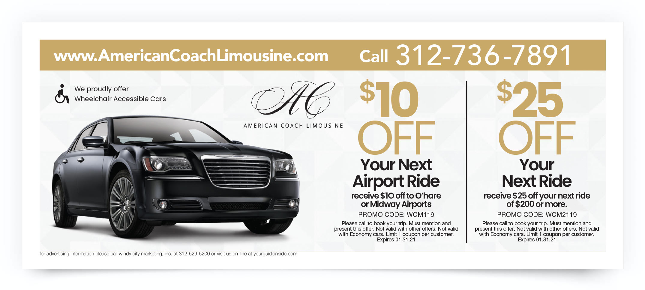 American Coach Limousine Chicago Coupon Offer