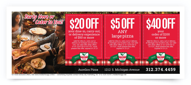 Aurelio's Pizza Chicago Coupon Offer