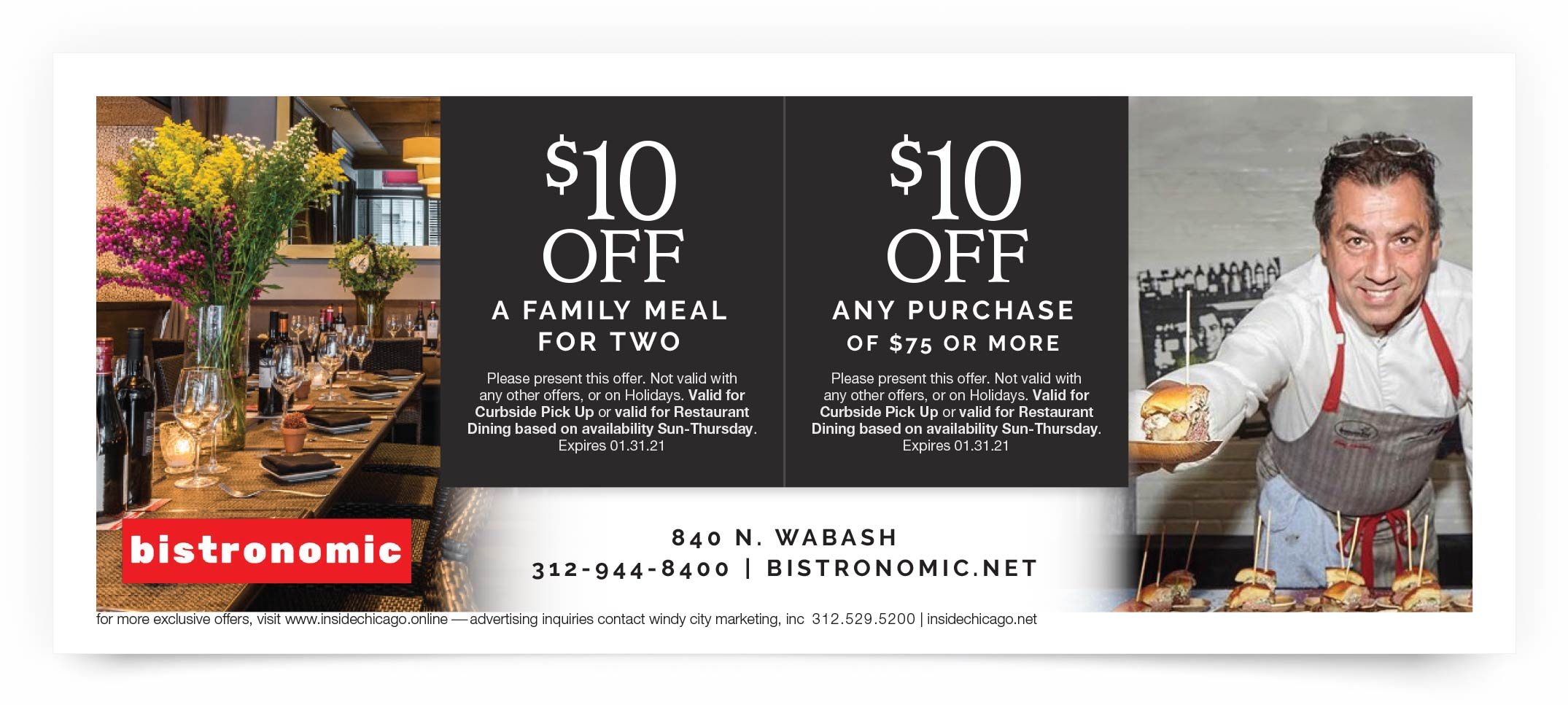Bistronomic Chicago Coupon Offer