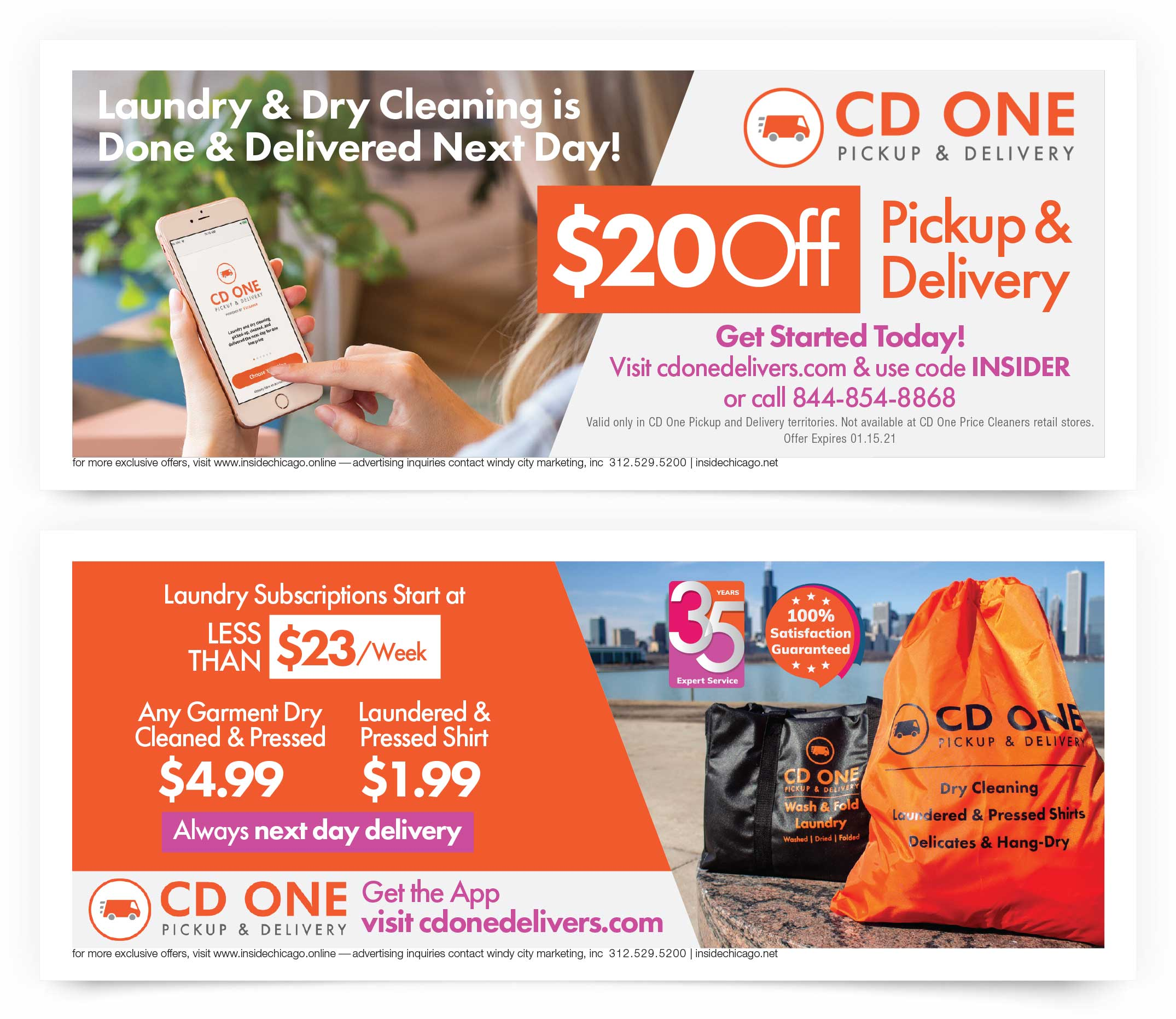 CD One Price Cleaners Chicago Coupons