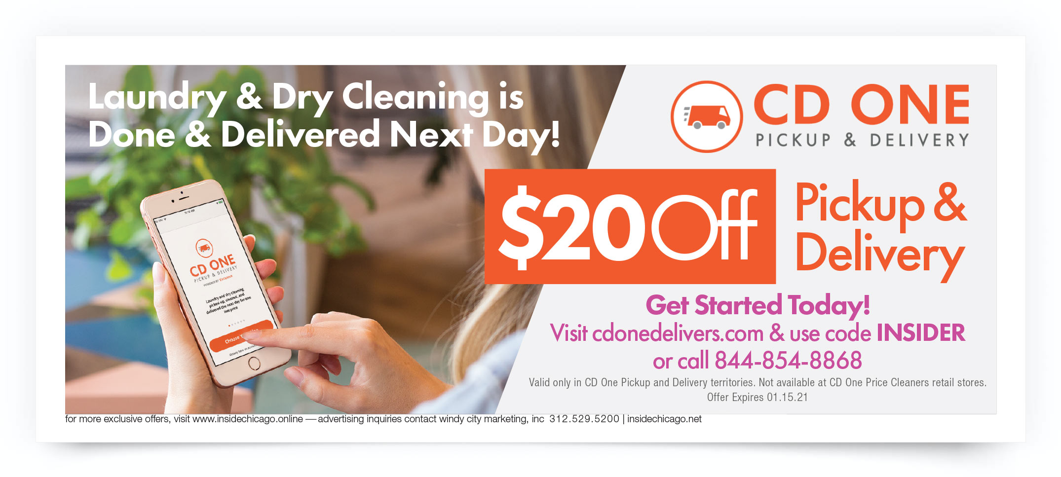 CD One Price Cleaners Chicago Coupon Intro