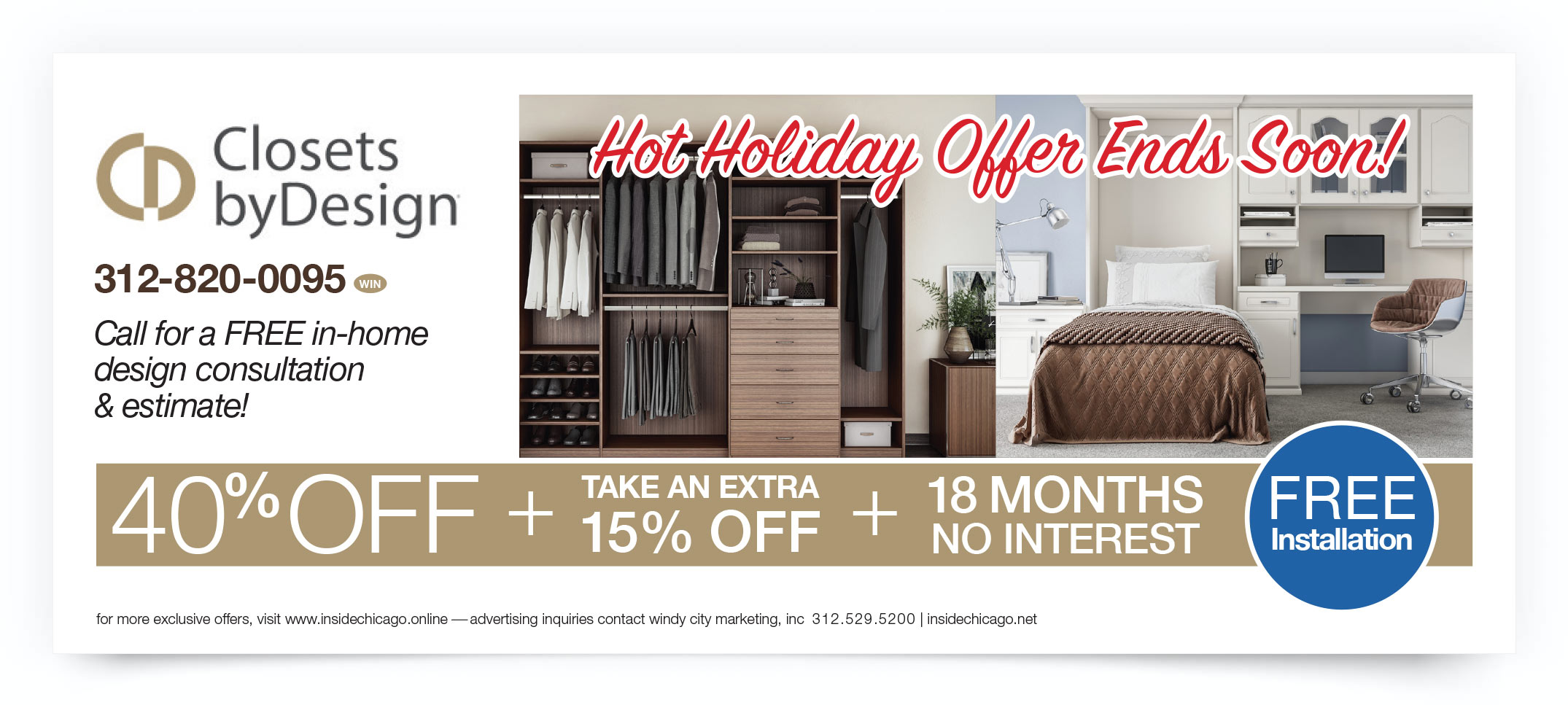 Closets By Design Chicago Coupon Intro