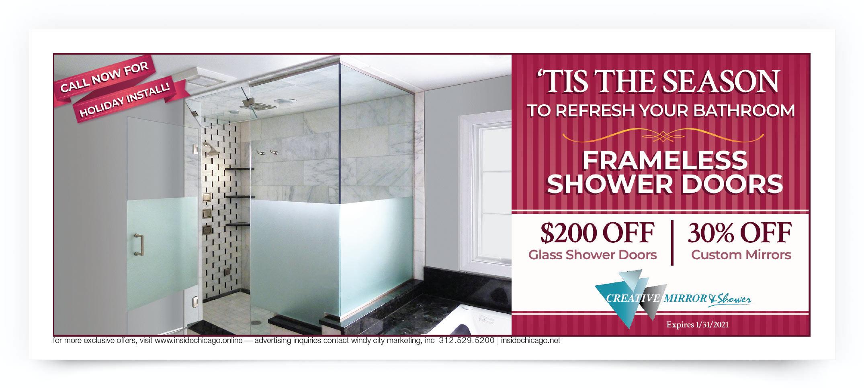 Creative Mirror & Shower Chicago Coupon Intro