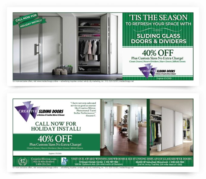 Creative Sliding Doors Chicago Coupon Intro