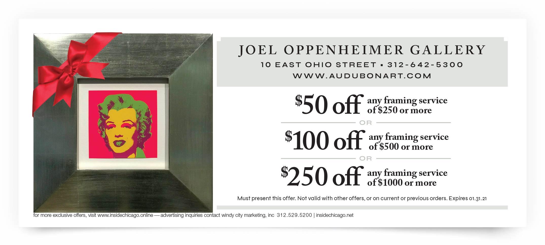 Joel Oppenheimer Gallery Chicago Coupon Offer