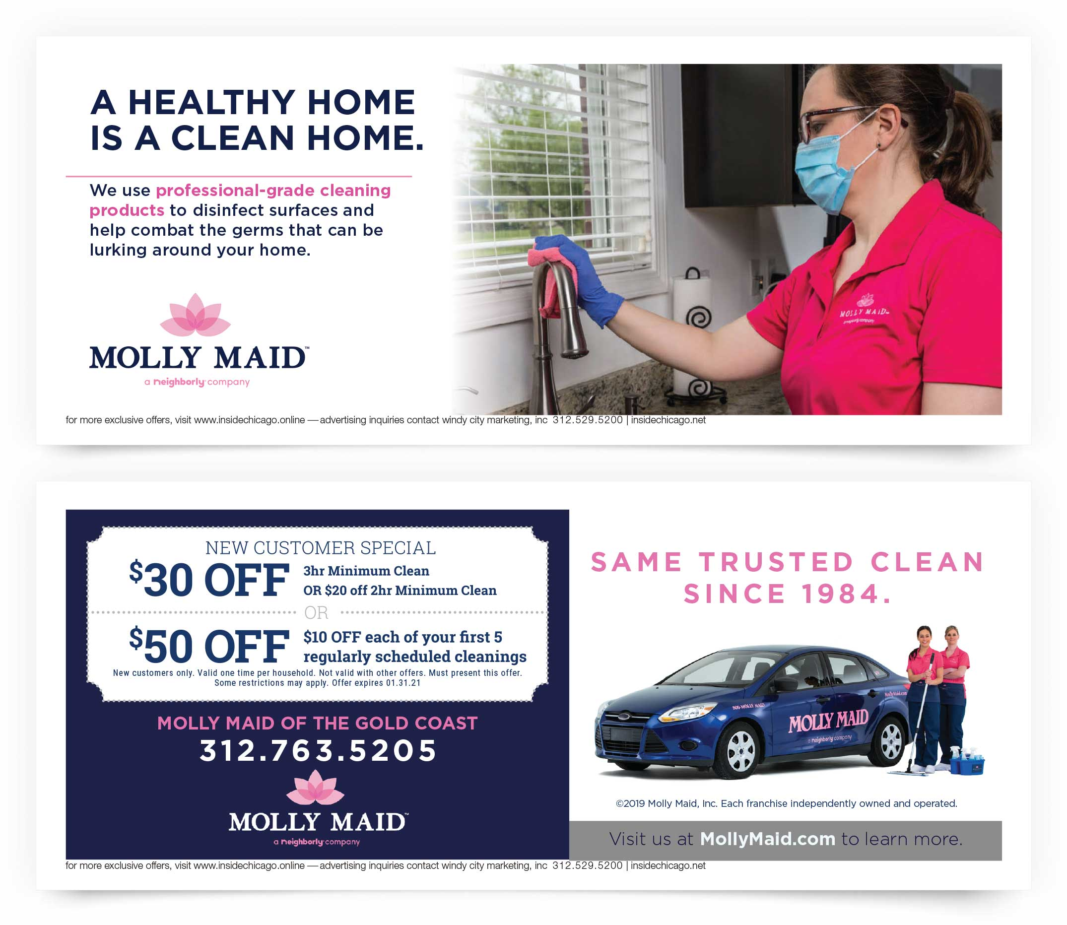 Molly Maid of the Gold Coast Chicago Coupons