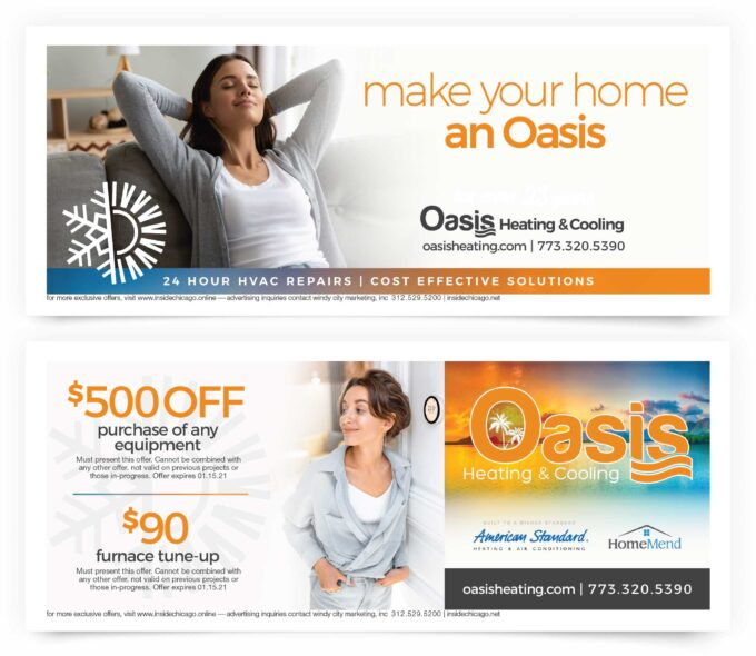 Oasis Home Heating Cooling Coupons