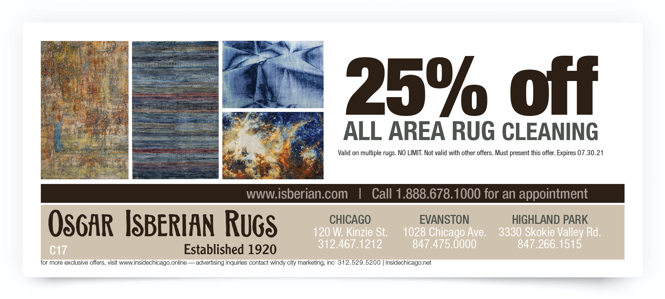 Oscar Isberian Rugs Chicago Coupon Offer