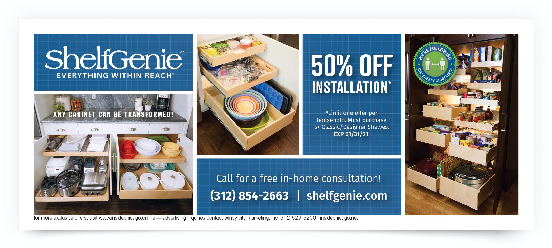 Shelf Genie Chicago South Coupon Offer