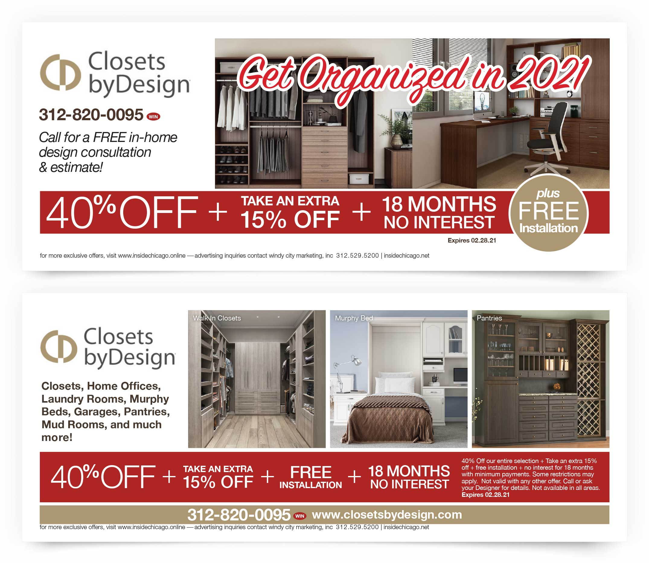 Closets by Design Coupons