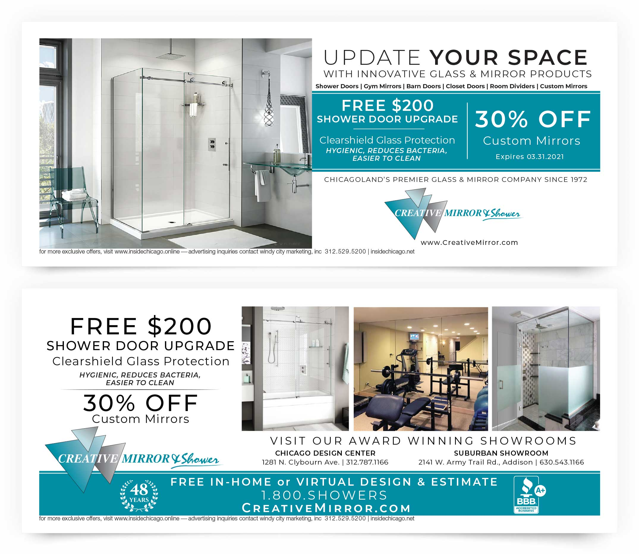 Creative Mirror Shower Coupons