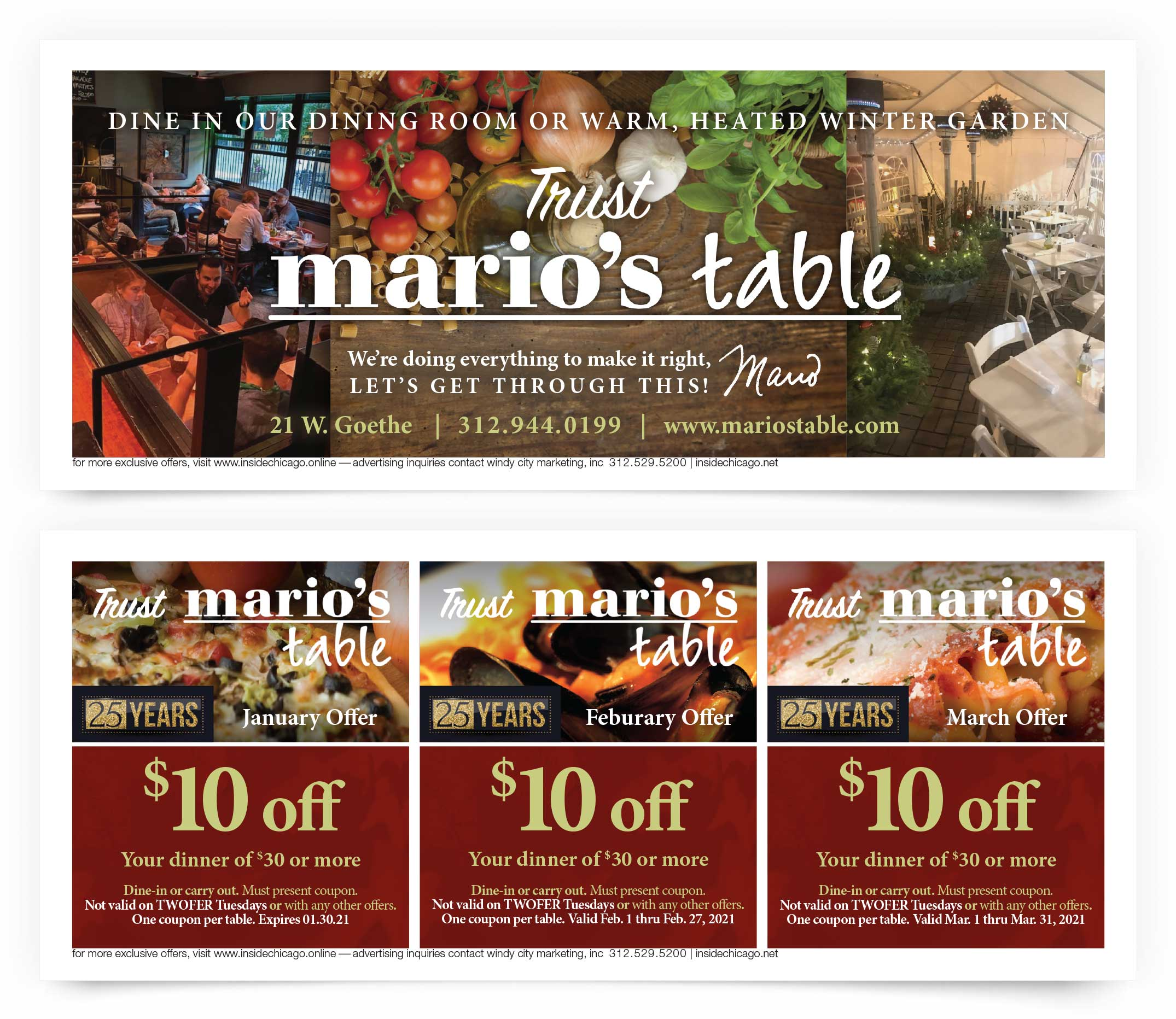 Mario's Table Coupons