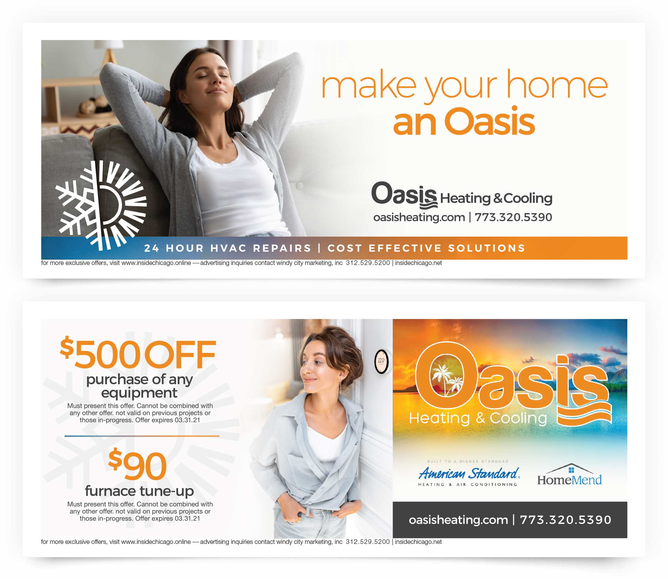 Oasis Heating and Cooling Coupons